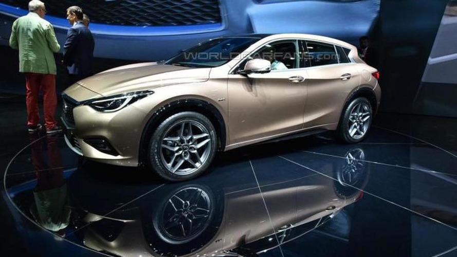 Infiniti Q30 arrives at IAA showing its Mercedes-Benz A-Class origins