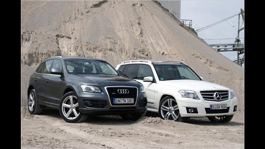 Schick ins Gelände: Audi Q5 und Mercedes GLK im Vergleich