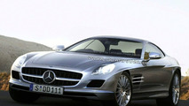 Mercedes SLC Gullwing Revivial Spied with Wing Doors Open