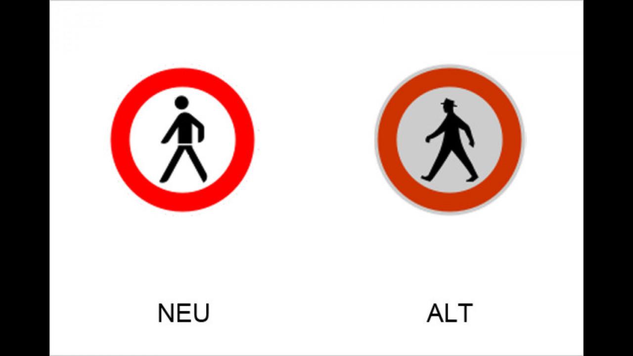 Verbot für Fußgänger