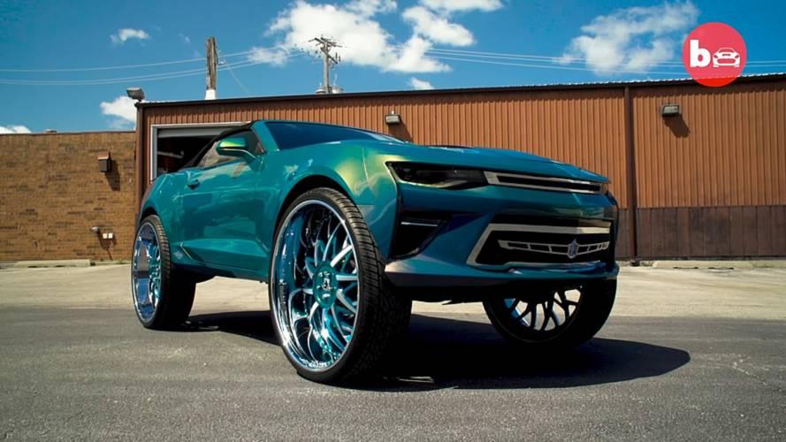 2016 Chevy Camaro Convertible on 32-inch Forgiato Blocco wheels