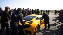 McLaren MP4-12C GT3 debut tests at the MIRA proving ground facility and Silverstone Circuit in England 11.03.2011