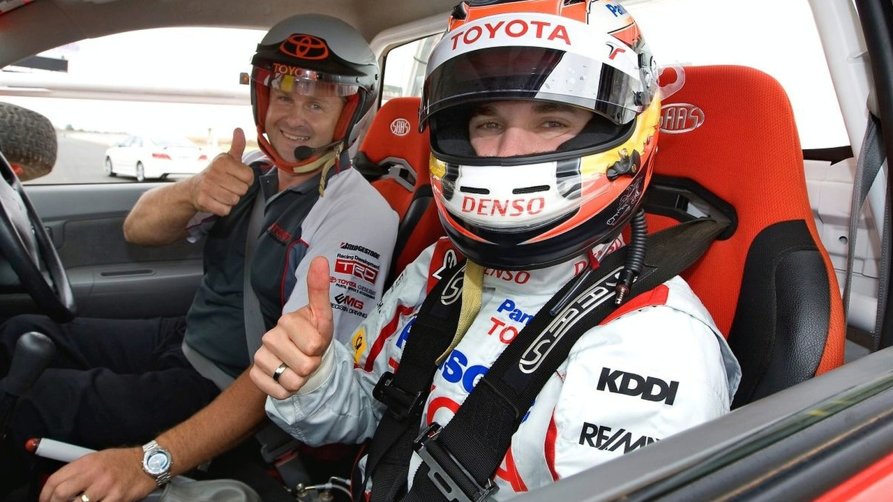 Timo Glock driving with Toyota Hilux Stunt Team in Melbourne