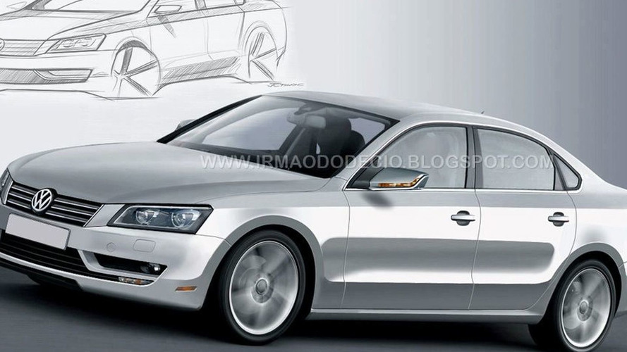 VW mid-size Sedan Rendered