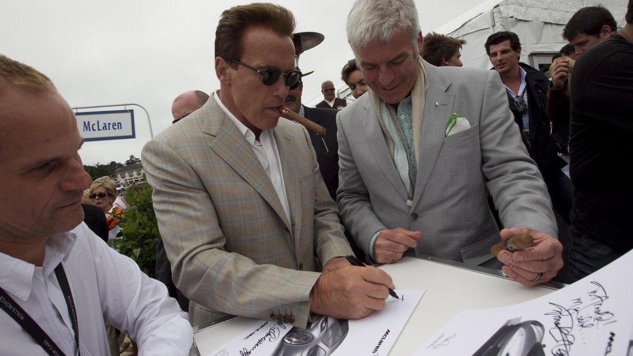 McLaren MP4-12C, Arnold Schwarzenegger, Pebble Beach Concours d'Elegance, Monterey, California, 25.08.2010