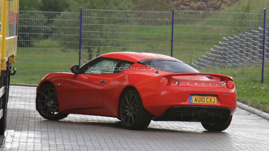Supercharged Lotus Evora S spied out in the open